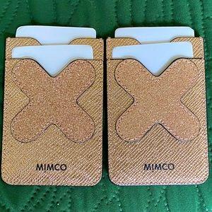 Mimco sticker card holder - Rose Gold